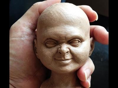 Sculpting Chucky. Part 1