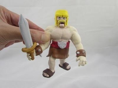 Sculpting Clash of Clans Barbarian Figurine Part 4