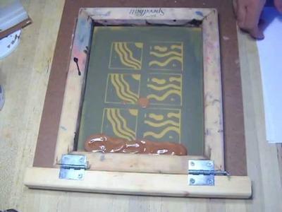 Silk Screen silkscreen transfers on clay vases.