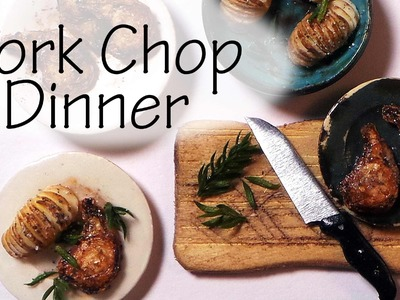 Simple Pork Chop Dinner - Polymer Clay Tutorial