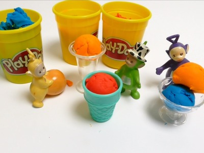 Teletubbies Play with Play-Doh Ice Cream Clay