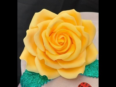 Tutorial  rose in pasta di zucchero ,TUTORIAL Simple Petal Rose Gumpaste Fondant for Cake