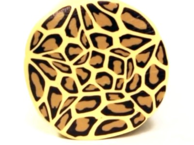 Video remake in English: Millefiori cane Leopard Skin polymer clay tutorial