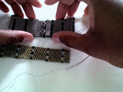 Beading techniques and tips #3: Adding snap clasps to peyote bracelets