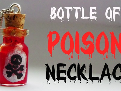Bottle of 'Poison' Necklace- Halloween Special!