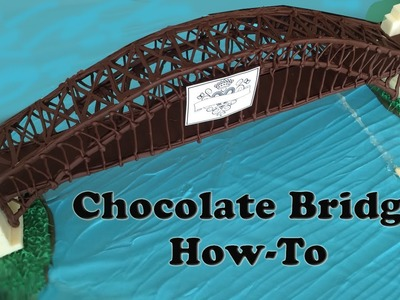 Chocolate Sydney Harbour Bridge Australia Day fireworks HOW TO COOK THAT Ann Reardon
