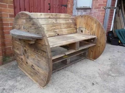 Creative furniture of the cable drum and ideas