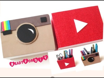 DIY Pen Holders - Youtube & Instagram