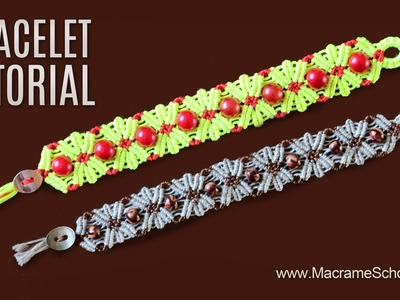 Flower Bracelet Tutorial by Macrame School