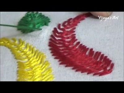 Hand  Embroidery - Cretan Stitch