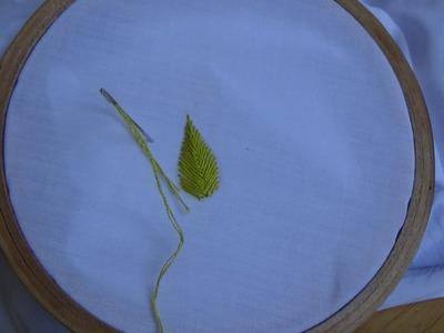 Hand Embroidery: Raised Fishbone Stitch