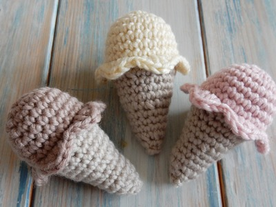 How to Crochet a Mini Ice-cream Cone