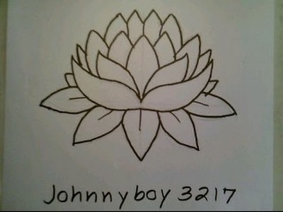 How To Draw A Lotus Flower Easy For Everyone Como dibujar una flor de loto