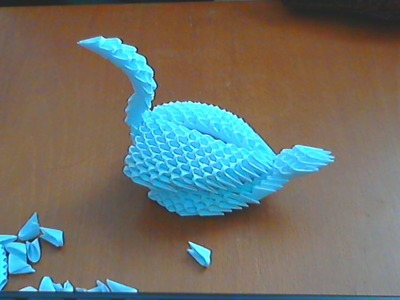 HOW TO MAKE 3D ORIGAMI  SWAN (MODEL6)