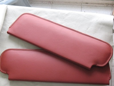 LEATHER UPHOLSTERY-Leather-Wrapping a pair of Sunvisors and an Instrument Panel