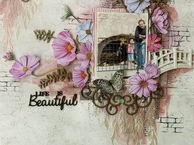 Life Is Beautiful Mixed Media Tutorial