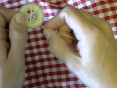 Making Dorset Buttons Part 3- Laying
