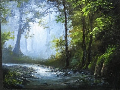Paint with Kevin Hill - Palette Knife Only Landscape Painting