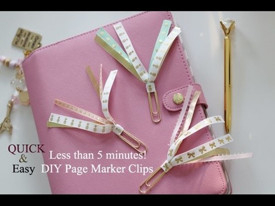 QUICK & EASY Tutorial.DIY Ribbon Marker Clip! As Requested.