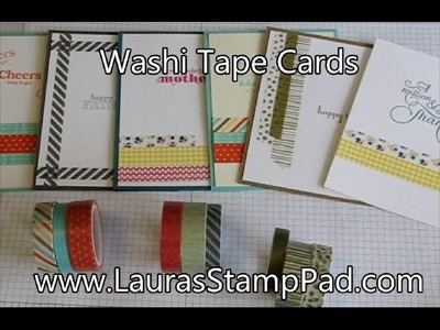 Quick & Simple Washi Tape Cards - Laura's Stamp Pad
