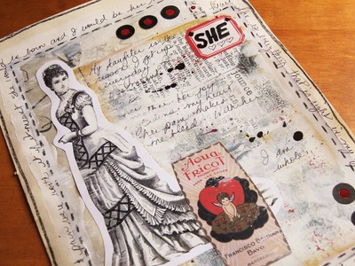 'She' Art Journal Page - Heart Journaling Video #3