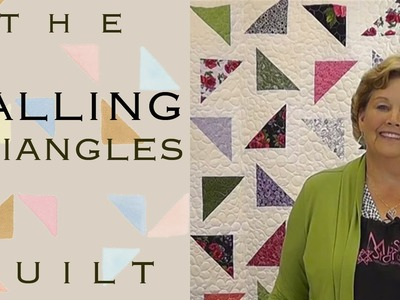 The Falling Triangles Quilt: Easy Quilting with Layer Cakes!