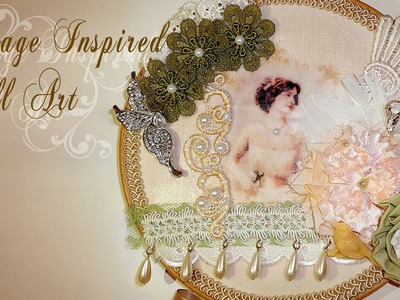 Vintage Inspired Hanging Wall Art - DT Project Tresors de Luxe