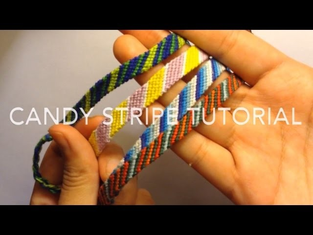 Candy Stripe Tutorial: Challenge Bracelet 1
