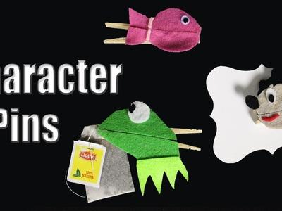 Character Pins ♥ DIY