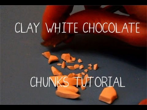 Clay White Chocolate Chips.Chunks Tutorial - anniscrafts