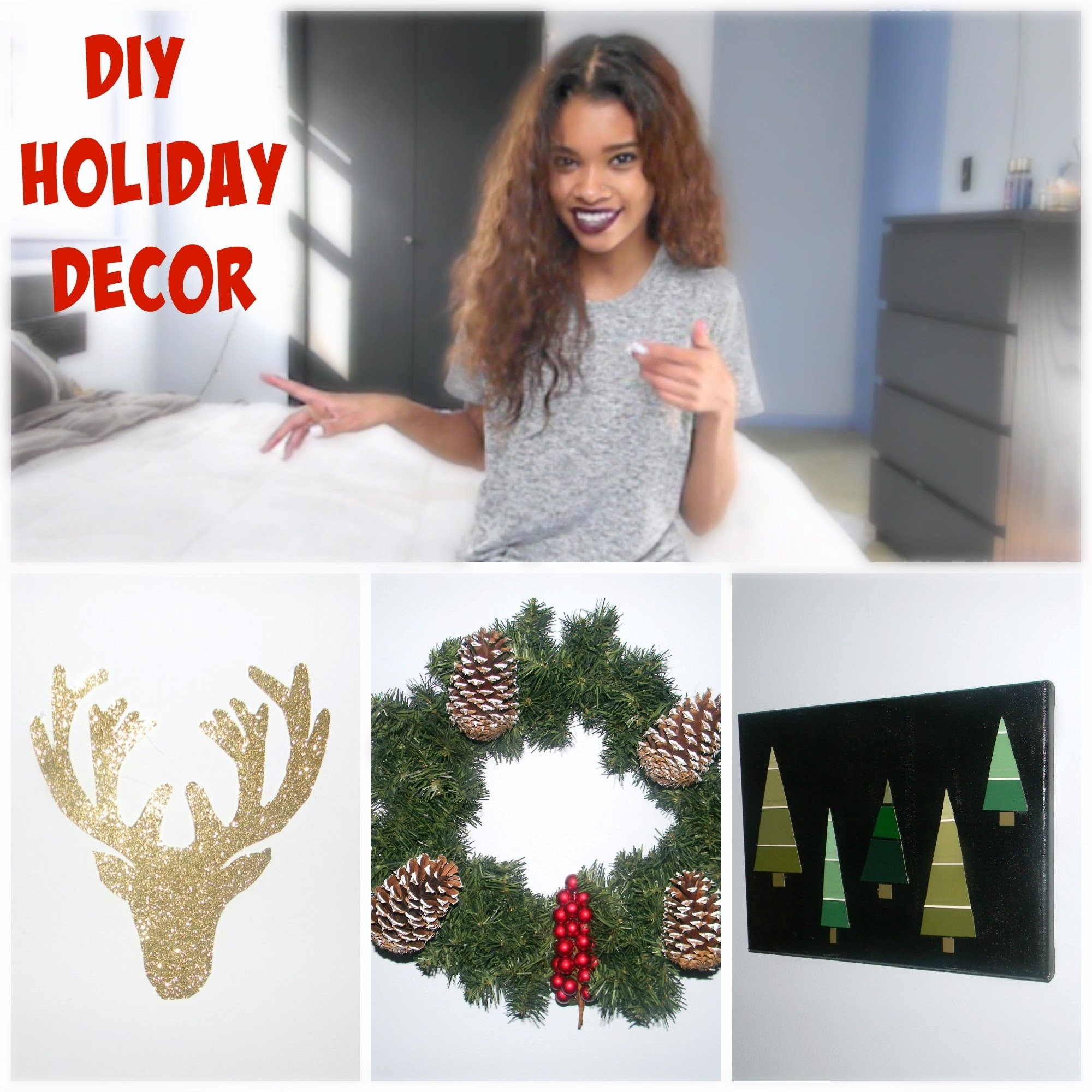 DIY CHRISTMAS ROOM DECOR 2015