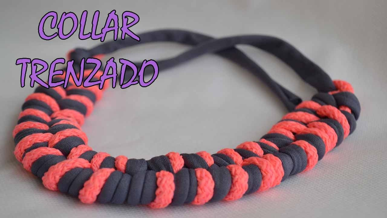 DIY -COLLAR TRENZADO - NECKLACE  BRAIDED