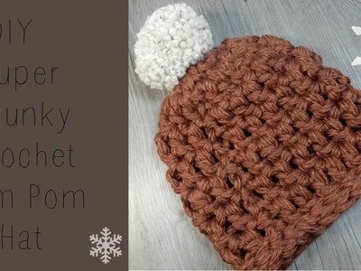 DIY: Crochet Chunky Beanie Super Fast and Easy