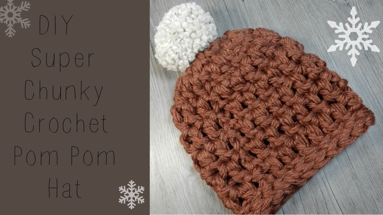 DIY: Crochet Chunky Beanie Super Fast and Easy