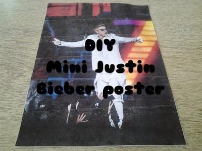 DIY: Mini Justin Bieber poster
