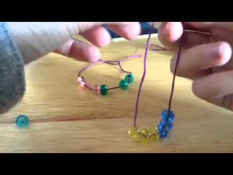 Doll jewellery tutorial how to make a necklace with beads a