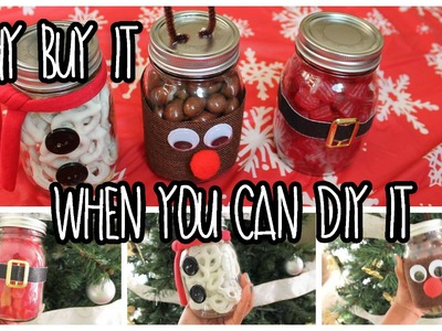 EASY Last Minute DIY Christmas Gifts Using Mason Jars!