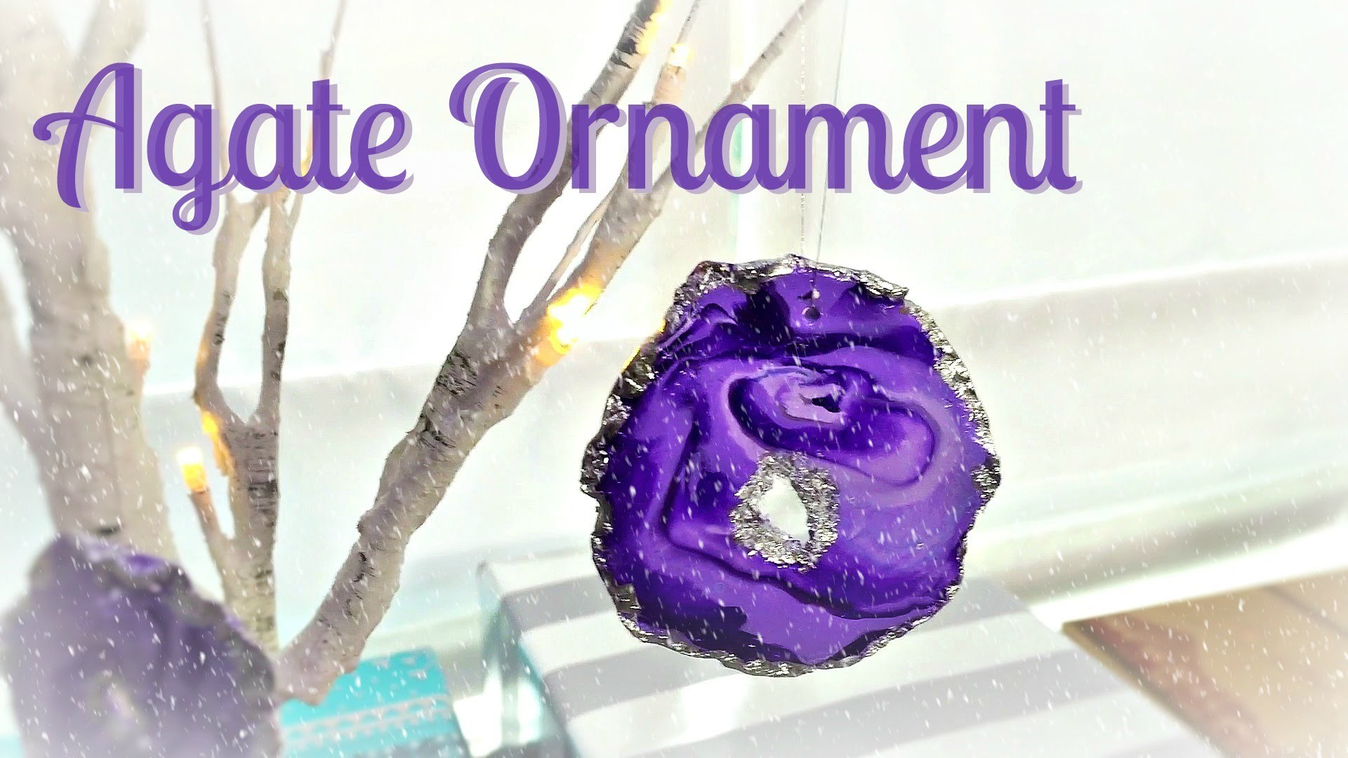 Faux Agate Ornament DIY