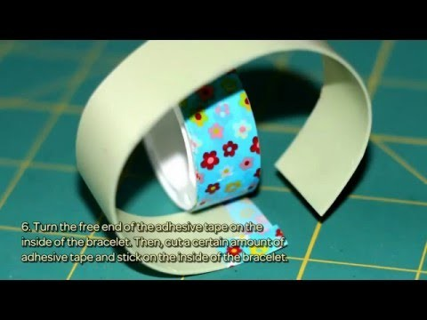 How To Make A Bright Floral Bracelet With Tape - DIY Style Tutorial - Guidecentral