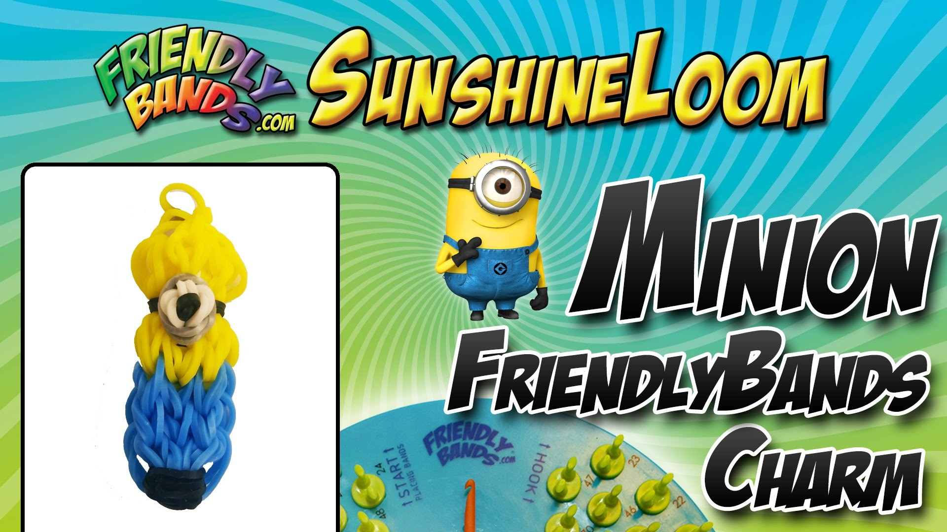 How to Make a FriendlyBand SunshineLoom - Minion Charm Tutorial
