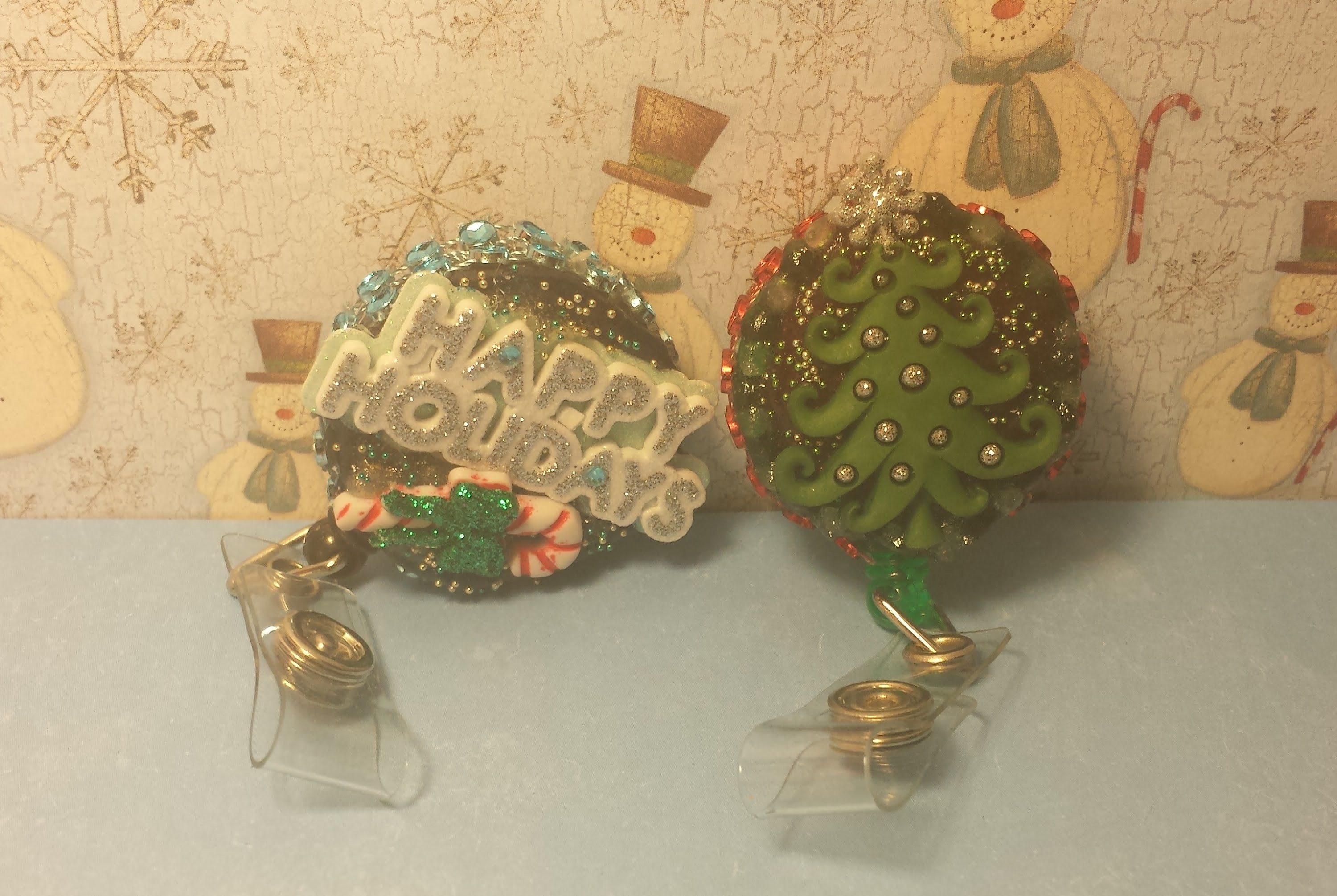 ID Badge Holder Tutorial #7: Christmas Tree