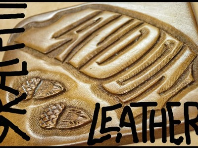 Leather Graffiti - Carving Landon's name into wet and cased leather - Leathercraft tutorial