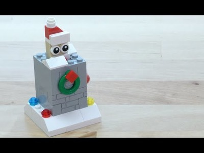 LEGO® Creator - How to Build a Popup Santa - DIY Holiday Building Tips
