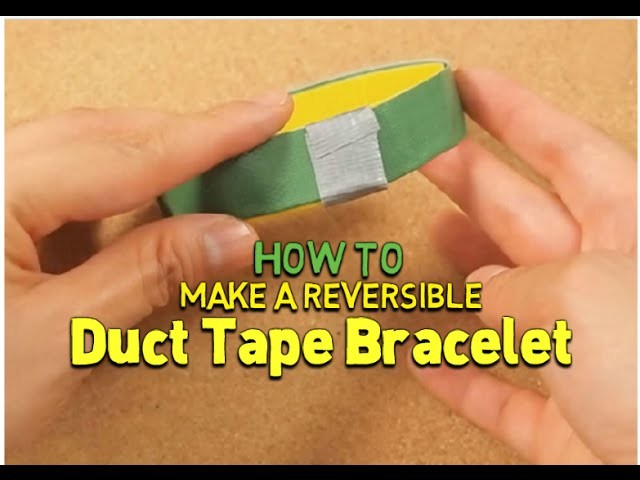 Make a Reversible Duct Tape Bracelet | Bracelet Tutorial