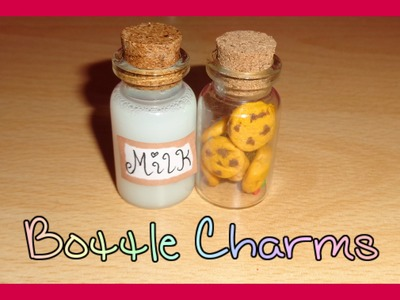 Milk and Cookies Miniature Bottle Charms DIY Tutorial