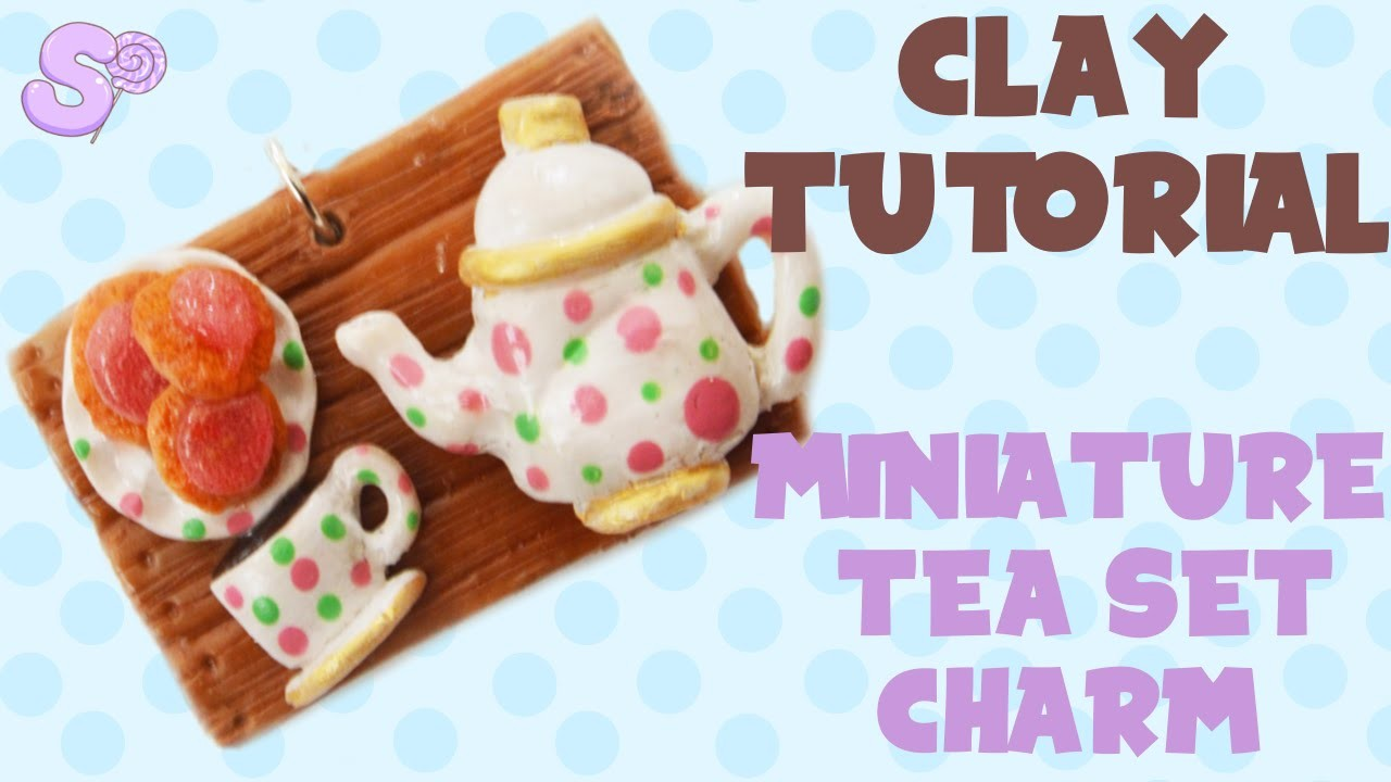 Miniature Tea Set Charm Clay Tutorial