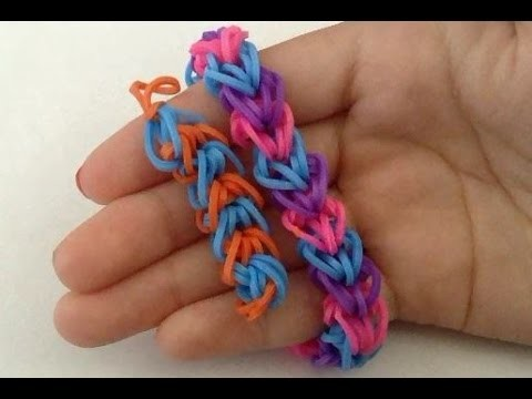 NEW Capped Braided Hearts Rainbow Loom Bracelet Tutorial | How To