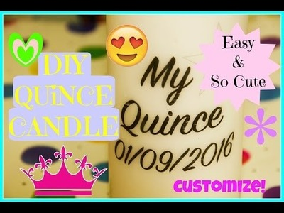 Quince.Wedding DIY Custom Candle Centerpieces Easy & Fun MyQuinceanera