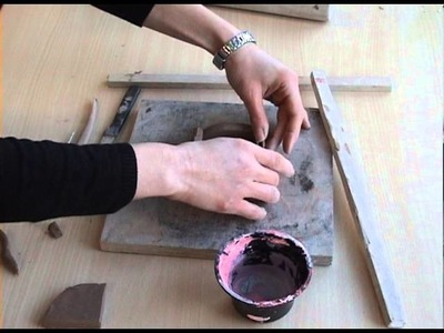 Clay and plaster relief
