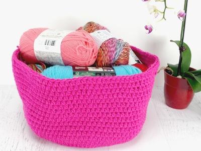 Como hacer una canaste de crochet